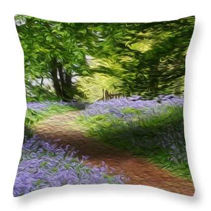 blue-bell-wood-journey-to-the-gate-vincent-franco pillow