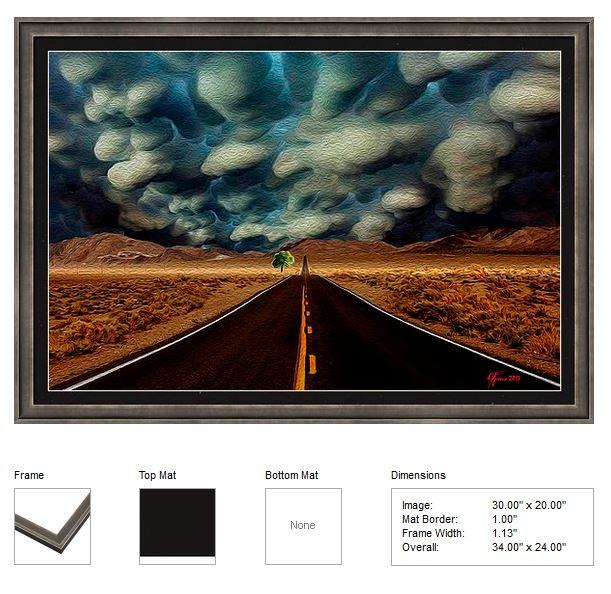 DESERT DRAMA framed print