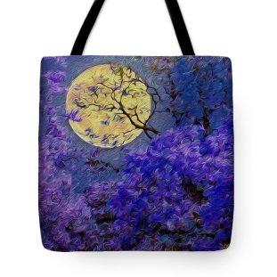 twilight-under-jacaranda-trees-vincent-franco tote